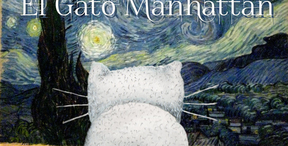 """Manhattan Cat looking Starry Night"""