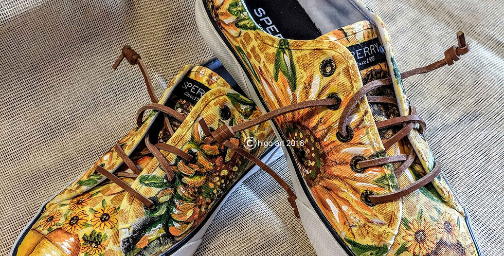 """""""Sunflowers sneakers"""" on Sperry"""