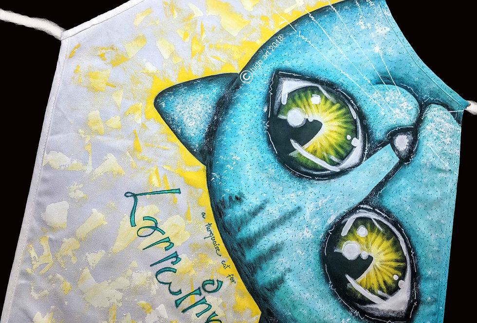 """Turquoise Cat"" apron"