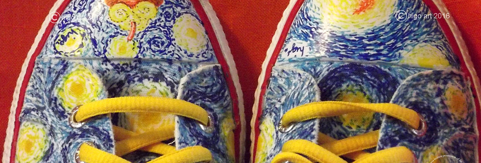"""Starry Night"" on Levis sneakers"