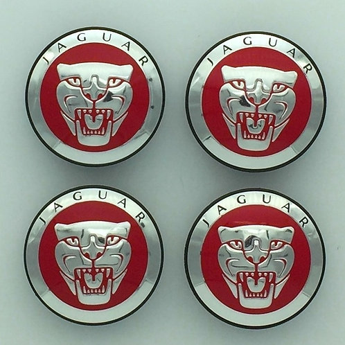 Centre Cap Badges - Red. Set of 4
