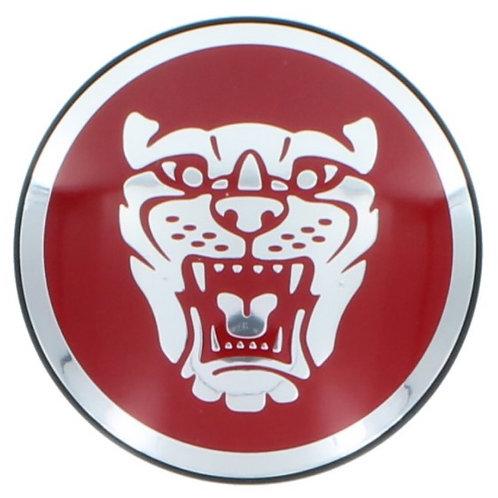 Centre Cap Badge - Red. Single