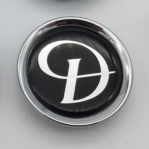 Centre Cap Badge - Daimler Black & Silver. Single