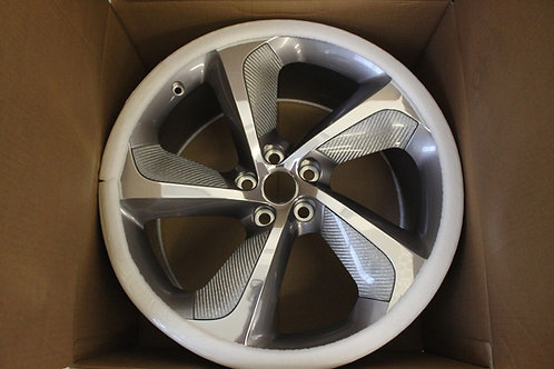 20in Rotor F Type Rear 10.5J Silver Weave  Carbon Fibre