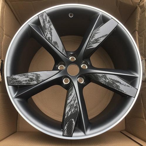 20in Blade F Type Rear 10.5J Carbon Fibre / Satin Grey