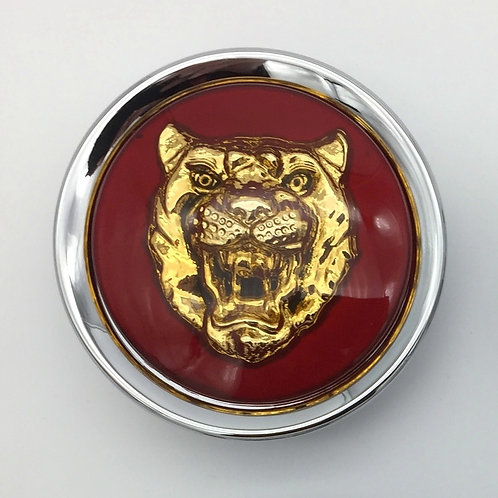Centre Cap Badges - Ruby with Gold Growler. Single