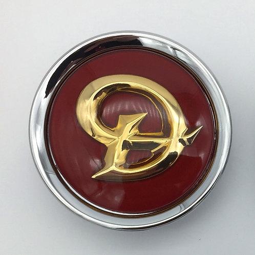 Centre Cap Badge - Daimler Ruby & Gold. Single
