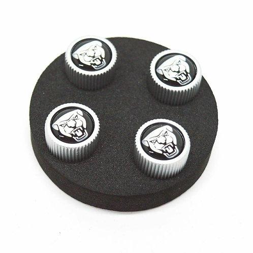 Jaguar Valve Stem Dust Cap Kit - Jaguar Growler Logo