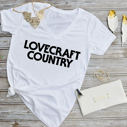 Lovecraft Country - (WHITE) Women's V-Neck