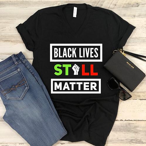 BLM (Black) - Women's V-Neck Shirt