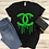 Thumbnail: Chanel Drip (Black) - Women's V-Neck Shirt