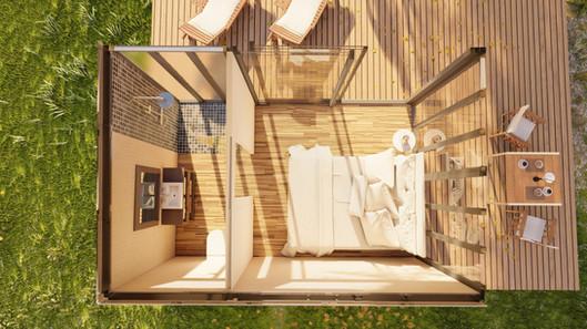 Habitation container