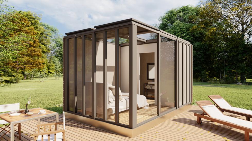 Un container comme logement provisoire