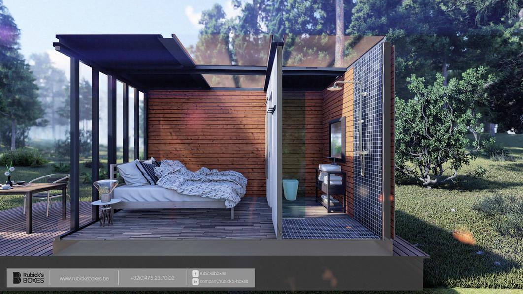 Création d'une chambre supplémentaire en container