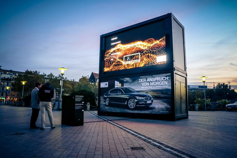 Location container street marketing Belgique