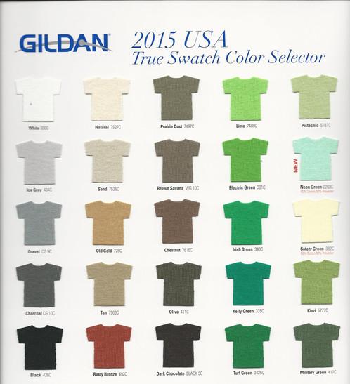 Gildan Color Charts Hobitfullring