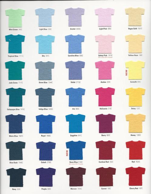 Gildan color chart 2