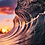 Thumbnail: Sunrise Silk Metal Print