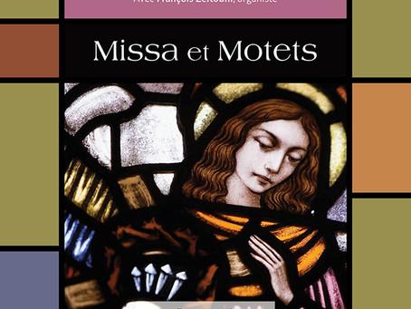 Concert MISSA et MOTETS en compagnie de François Zeitouni, organiste