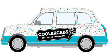 Coolercabs Mobile soft serve ice cream specialists available to hire