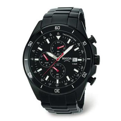 MENS BOCCIA TITANIUM CHRONOGRAPH WATCH