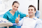 Dentist in Warren, NJ, Dental patient thumbs up, hygienist, dental patient, happy dental patient,
