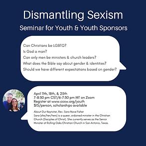 Dismantling Sexism seminar in April.png