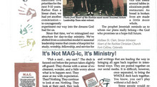 It's Not MAG-ic, it's Ministry!