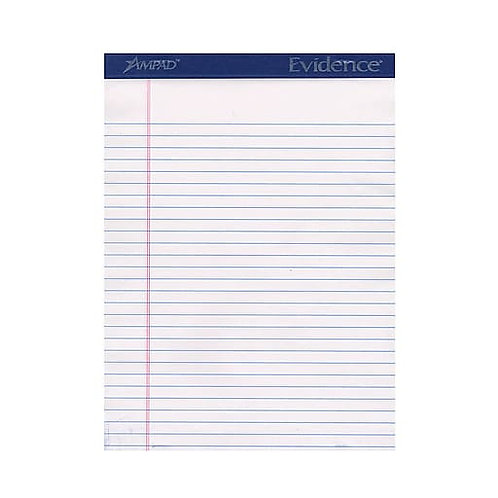 Ampad Ruled Legal Pads, White 8 1/2 in. x 11 in., 6PK