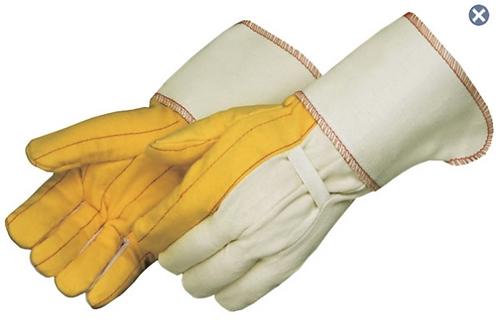 Heavy Weight Golden Chore Gloves With Gauntlet Cuff