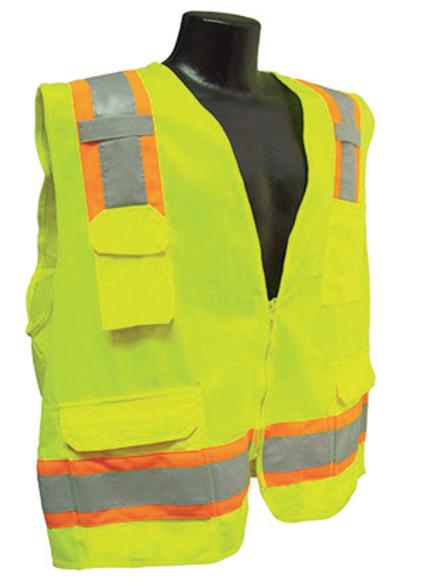 Radians RadWear Men's Class 2 High Visibility Two-Tone Surveyor Safety Vest