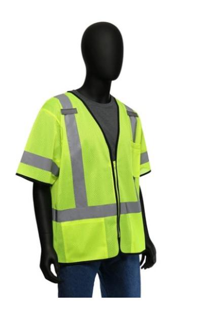 West Chester Protective Gear 47302 Hi-Viz Classic Short-Sleeved Safety Vest - Me