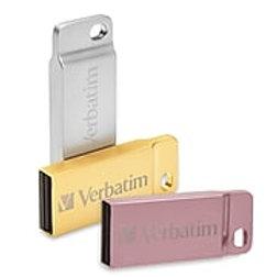 Verbatim 16GB USB 2.0 Flash Drive, Metal Executive - Assorted Metal Colors
