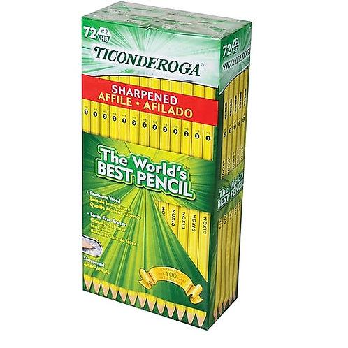 Ticonderoga #2 Graphite Pencil, Pre-Sharpened, 72ct