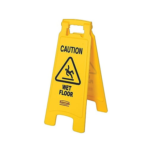 "Rubbermaid Commercial Products 25""H x 11""W Wet Floor Sign"