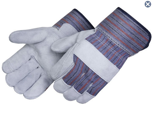 Premium Shoulder Leather Double Palm Gloves With Safety Cuff