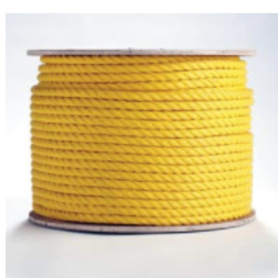 "5/8"" x 600' Yellow Poly Rope"