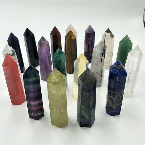 Natural Stones Minerals Crystals  Chakra Healing Crystal Column