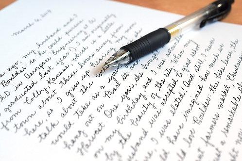 Handwriting Analysis Reading - Graphology