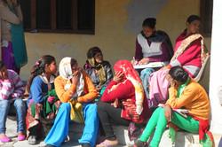 Villagers, visiting Health Clinic, Uttar