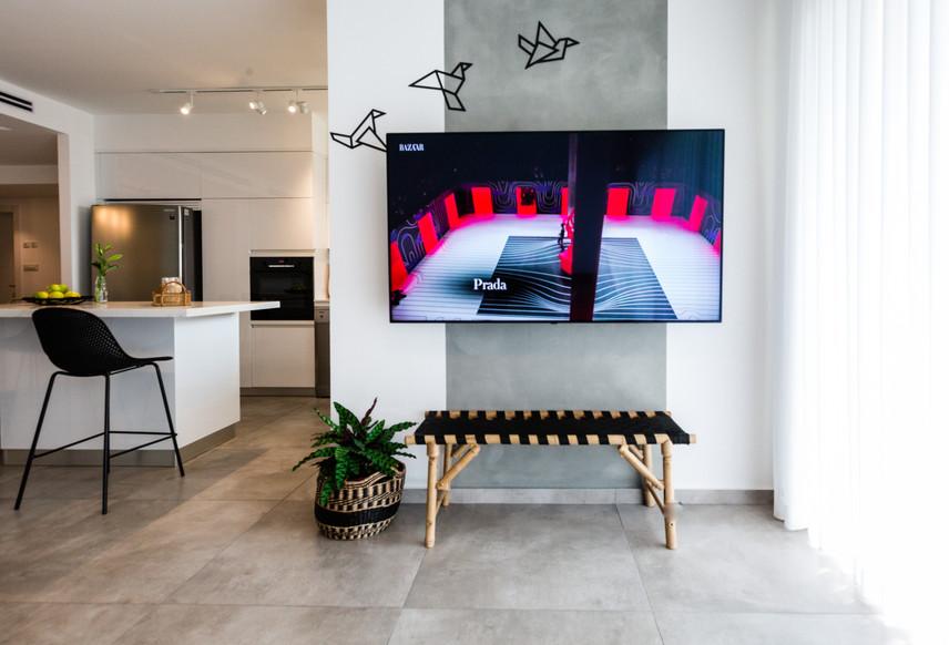 קיר טלויזיה מעוצב