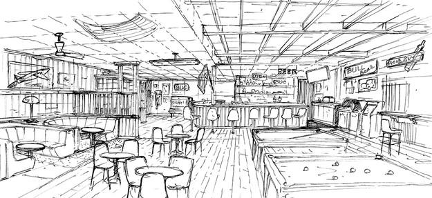 Beyond the bar - Interior