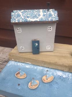 Tiny handmade campfire, deckchair