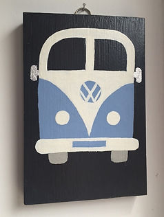 vw volkswagen campervan wall art handpainted unique one off