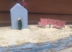 Seaside, windbreak, beach, deckchair