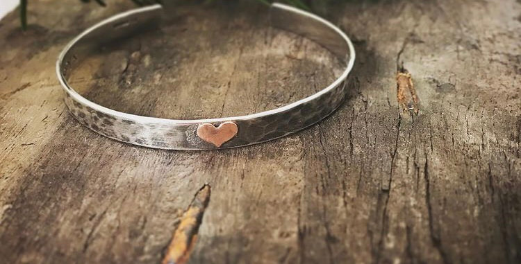 Sterling Silver Cuff Bangle With Personalised Message