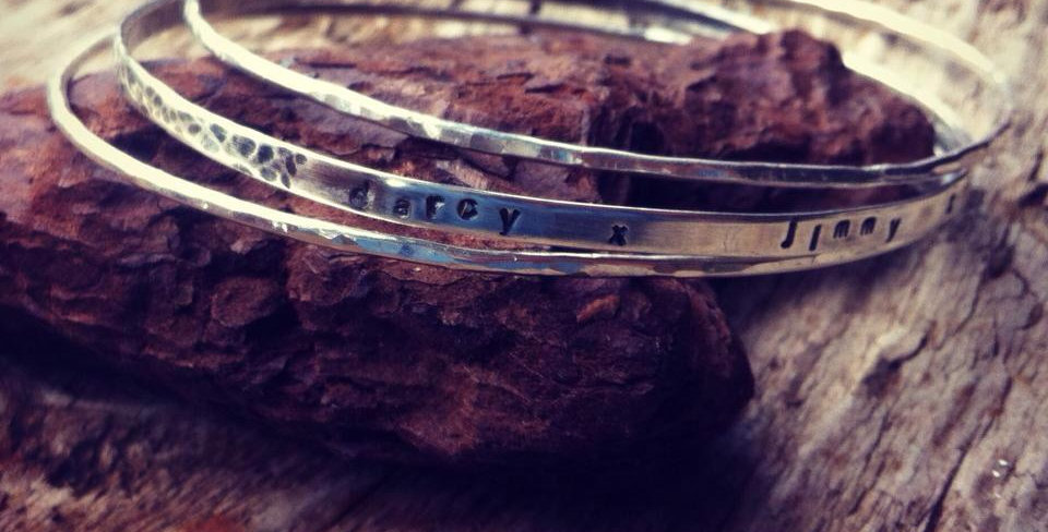 Sterling Silver Personalised Stacking Bangles