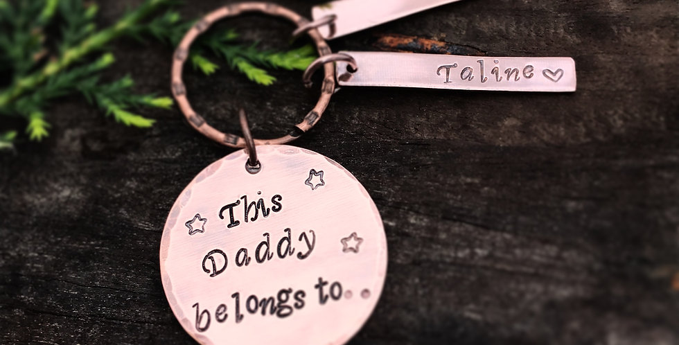 Copper Keyring Personalised Keyring With Name Tags