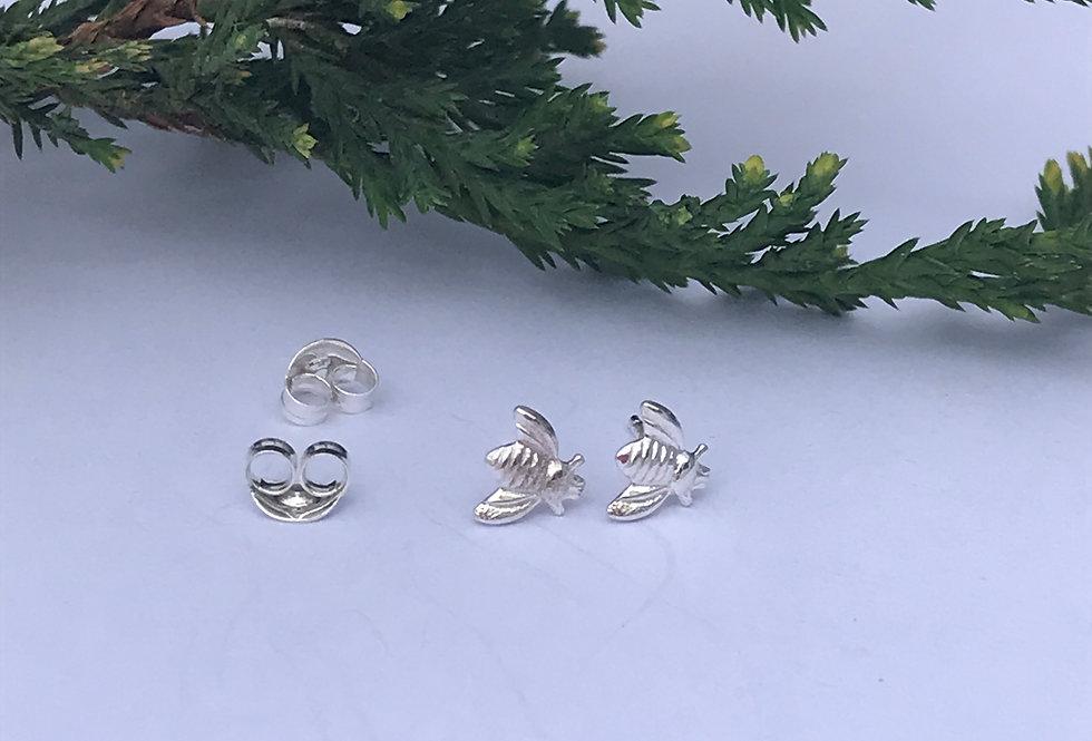 Sterling Silver Bumblebee Earrings