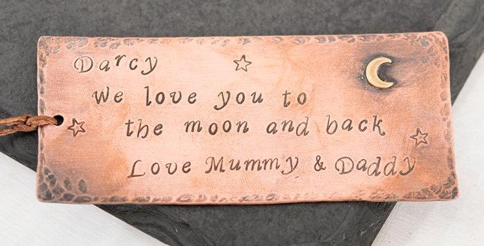 Personalised Copper Bookmark